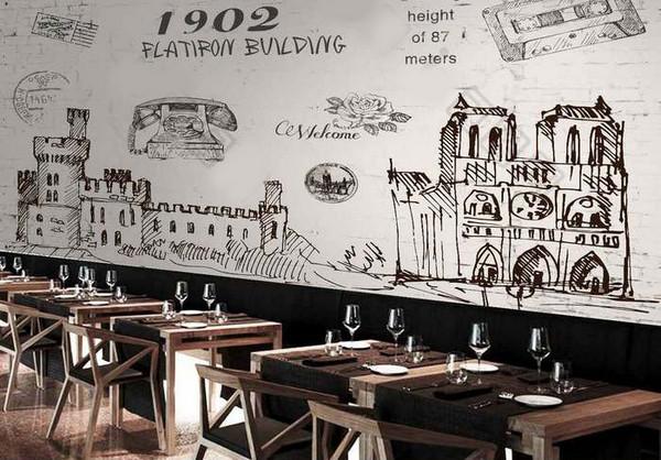 Lưu ý khi chọn tranh dán tường cho quán cafe