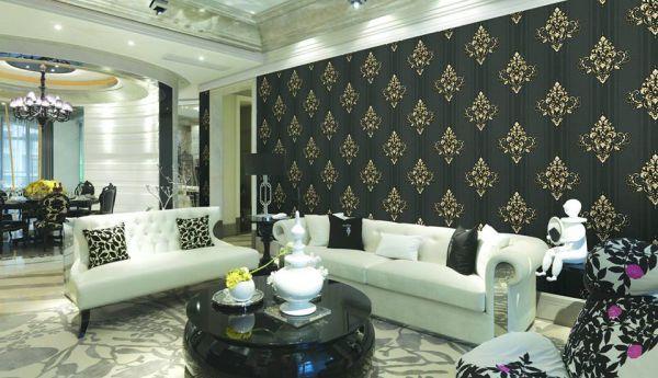 Giấy dán tường hoa văn siêu đẹp cho không gian nhà sang trọng
