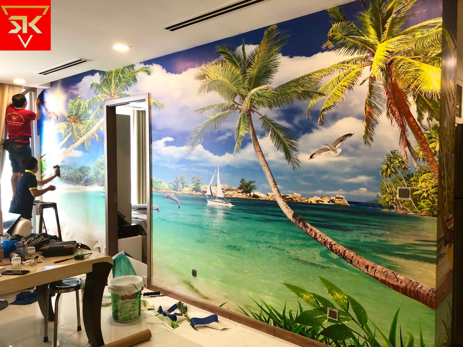 Tranh dán tường phòng ngủ - Xu hướng trang trí nội thất mới