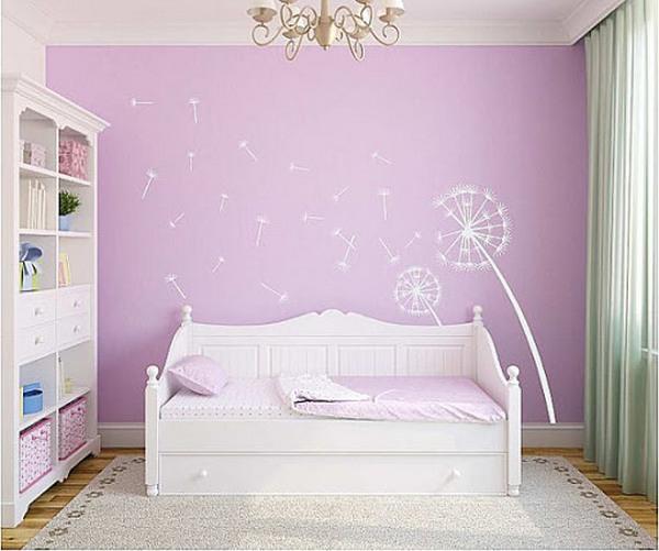 Giấy dán tường màu hồng tím