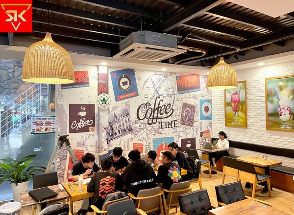 Thi công tranh dán tường 3D quán cafe chất lượng nhất