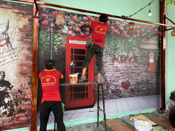 Thi công tranh dán tường Quận Phú Nhuận