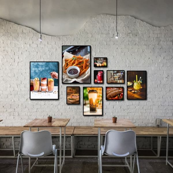 Chọn giấy dán tường quán trà sữa phù hợp với không gian quán của bạn