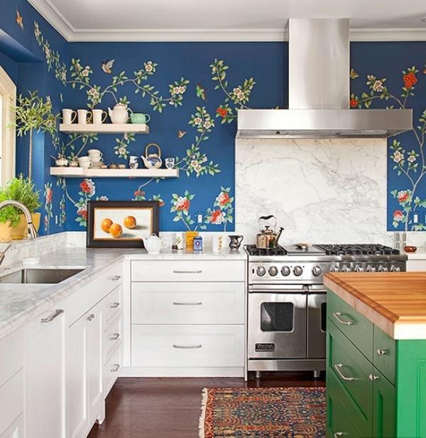 Giấy dán tường bếp bí quyết giúp căn bếp của bạn sáng sủa và sang trọng hơn